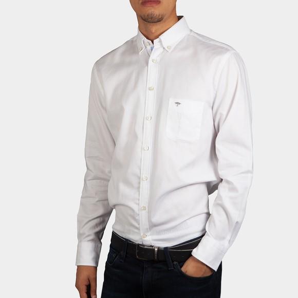 Fynch Hatton Mens White Winter Basics Shirt