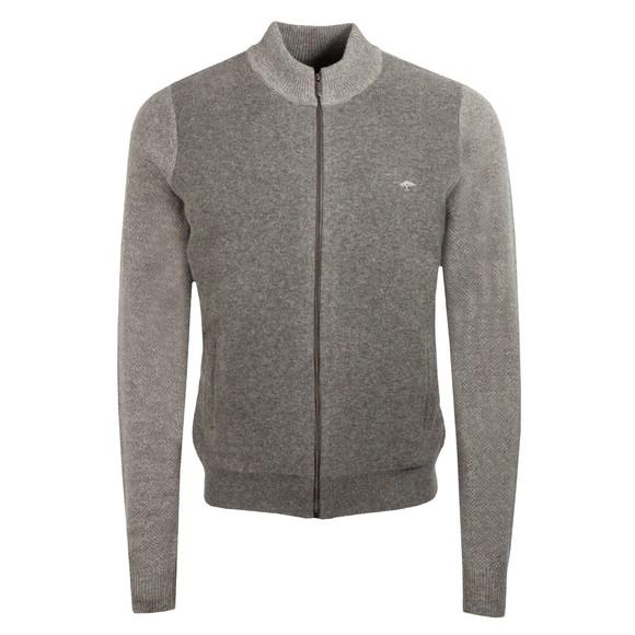 Fynch Hatton Mens Grey Zipped Cardigan