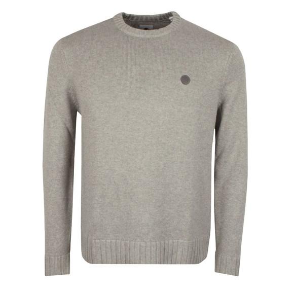 Pretty Green Mens Grey Standards Knitted Jumper