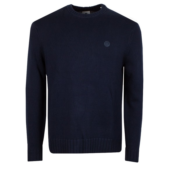 Pretty Green Mens Blue Standards Knitted Jumper