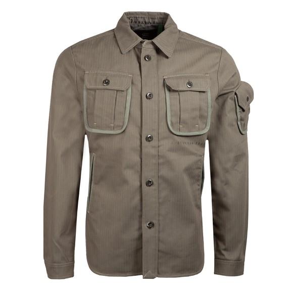 G-Star Mens Green Stand Collar Overshirt