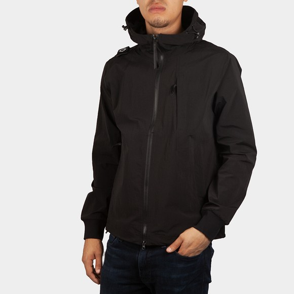 Ma.Strum Mens Black SP Hooded Overshirt