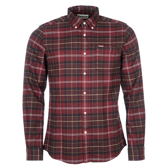 Barbour Lifestyle Mens Red Kyeloch Tailored Shirt