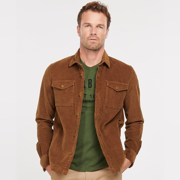 Barbour Lifestyle Mens Brown Cord OverShirt