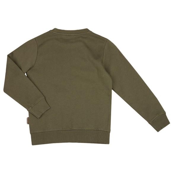 Napapijri Boys Green K B-Box Crew Sweatshirt