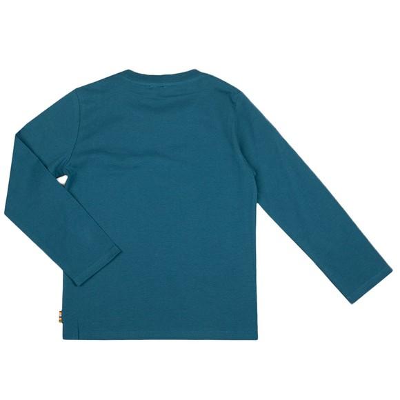 Paul Smith Junior Boys Turquoise Ski Zebra T Shirt