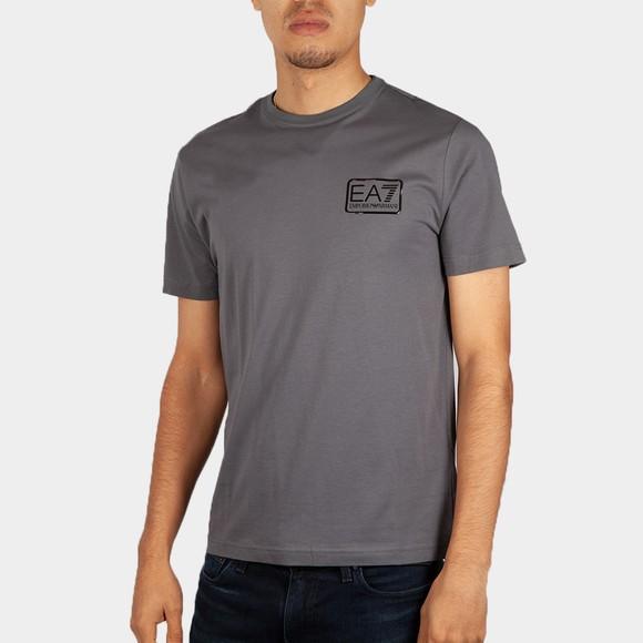 EA7 Emporio Armani Mens Grey Square Logo T-Shirt
