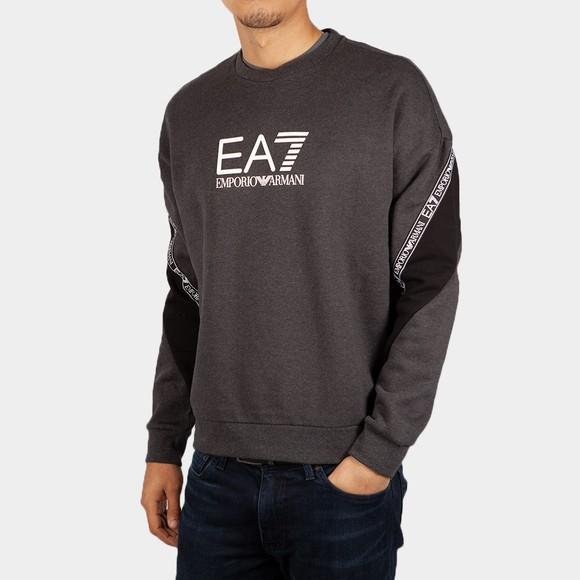 EA7 Emporio Armani Mens Grey Big Logo Sweatshirt