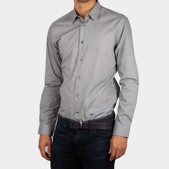 Ted Baker Mens Black Mono Tri Geo Shirt