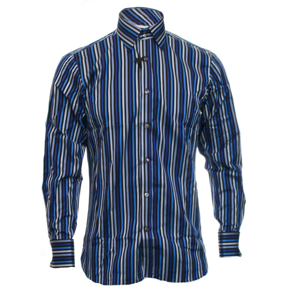 262395450dc151 Loading zoom · Ted Baker Mens Blue Ted Baker Deep Blue Milldom Endurance  Stripe Shirt main image
