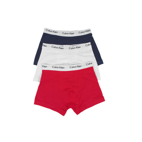 Calvin Klein Mens White 3 Pack Trunks main image