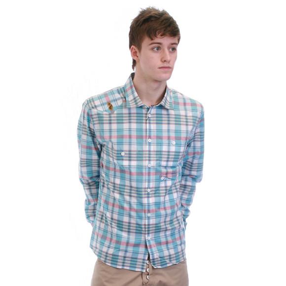 Luke Mens Blue Luke Sunsky Pocko Check Shirt main image