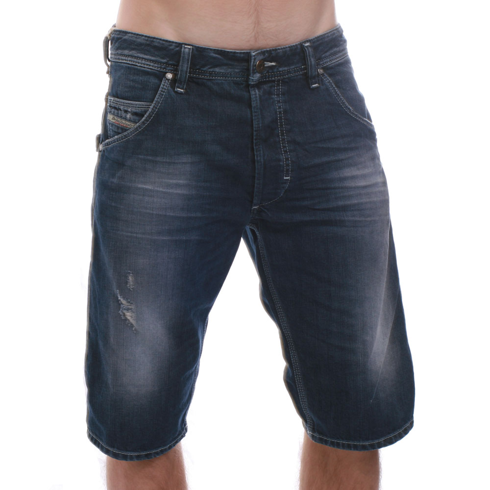 7f101d5a3c Diesel Mens Blue Diesel KROSHORT Denim Shorts main image. Loading zoom