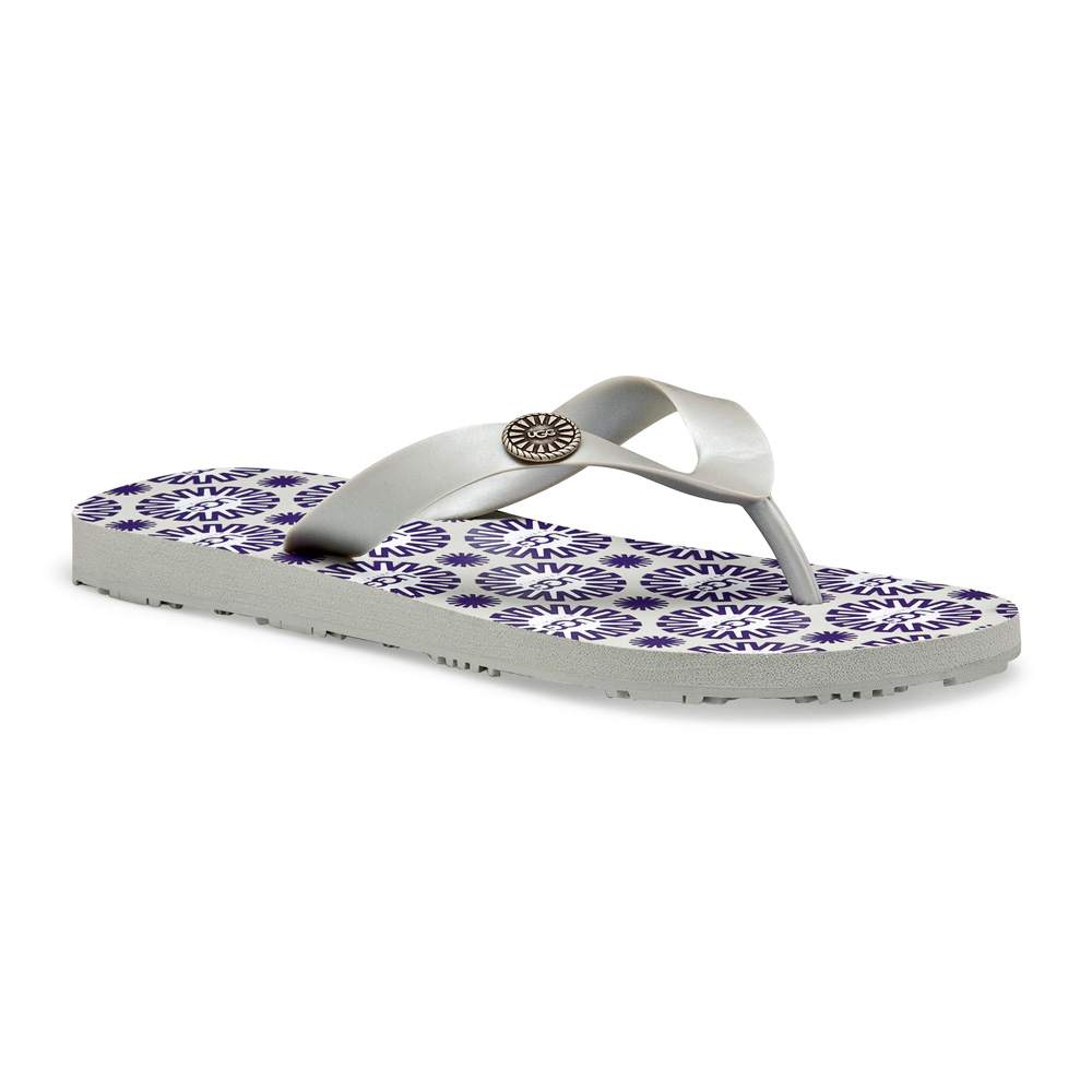 de58c35ece9 Womens Silver Ugg Flare Flip Flop - Silver