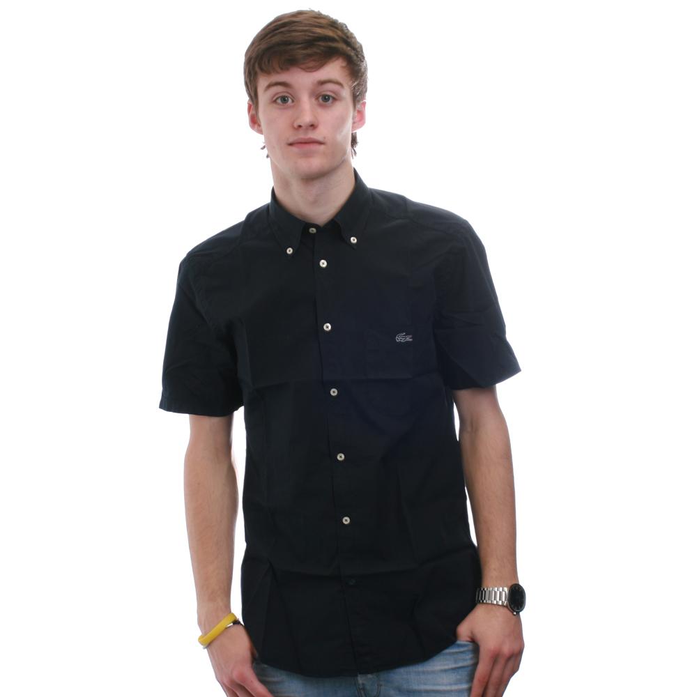 f7877775b Lacoste Mens Blue Lacoste Slim Fit Eclipse SS BD Shirt