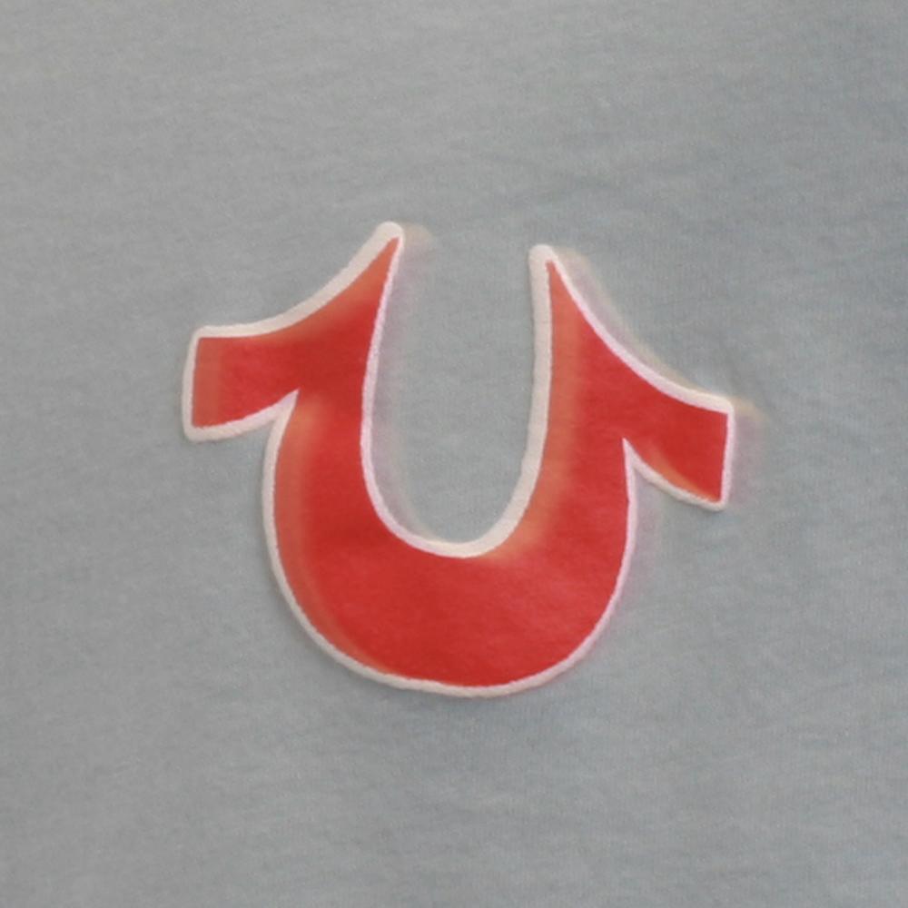 True Religion Puff Logo Sky Blue T Shirt Oxygen Clothing
