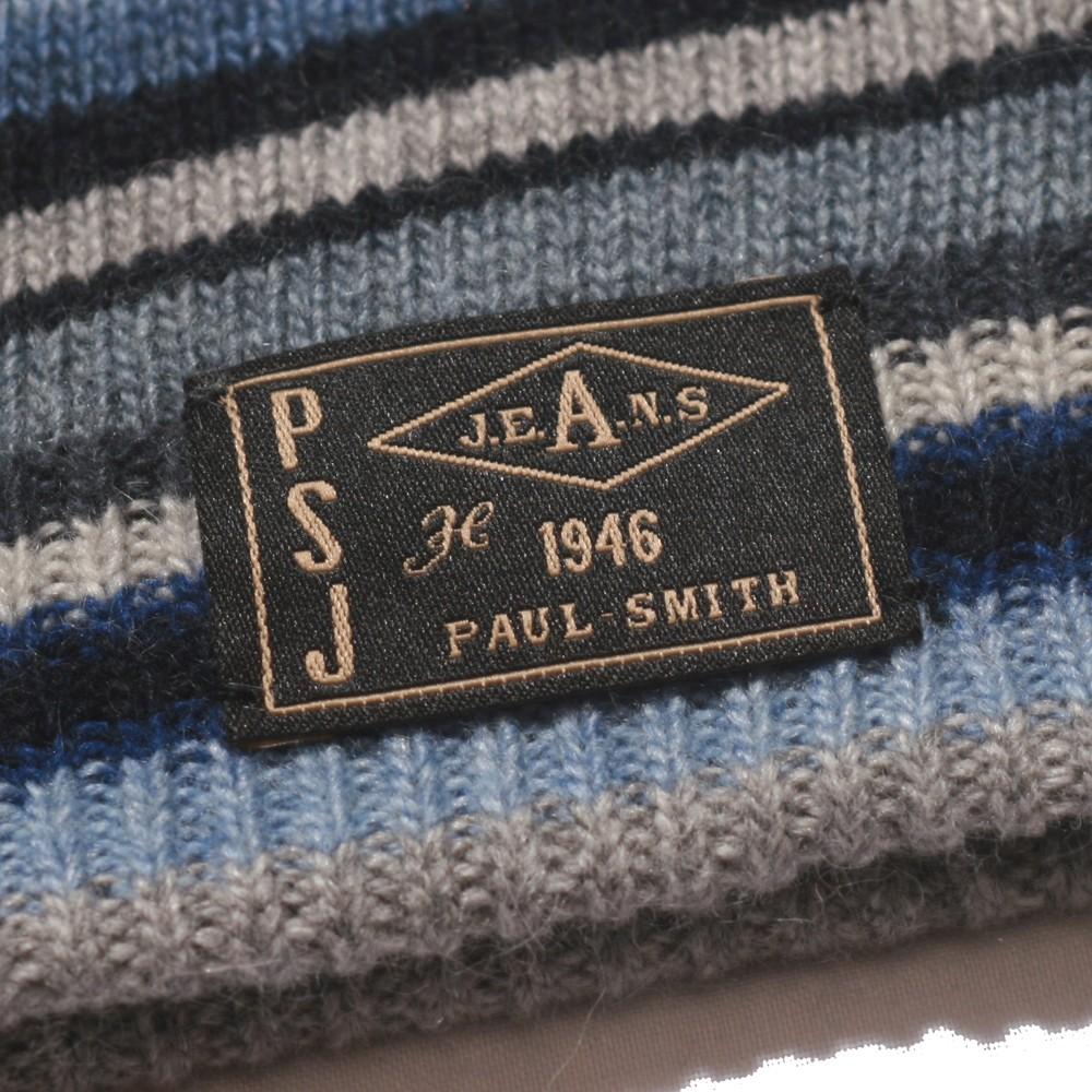 Paul Smith Jeans Paul Smith Blue Stripe Beanie Hat  f69daec7908