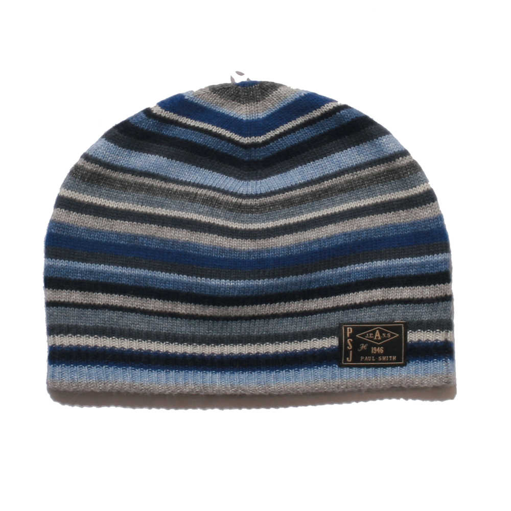 f9c9841abd5 Paul Smith Jeans Paul Smith Blue Stripe Beanie Hat