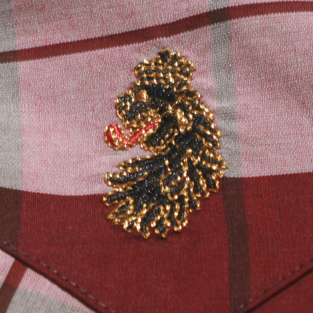 Luke Chocolate Mix Block Roll Up Sleeve Military Shirt main image