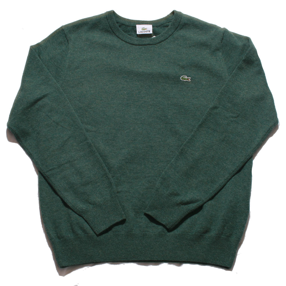 337f1c711ea1cc Lacoste Green New Wool Knitted Crew Neck Jumper main image