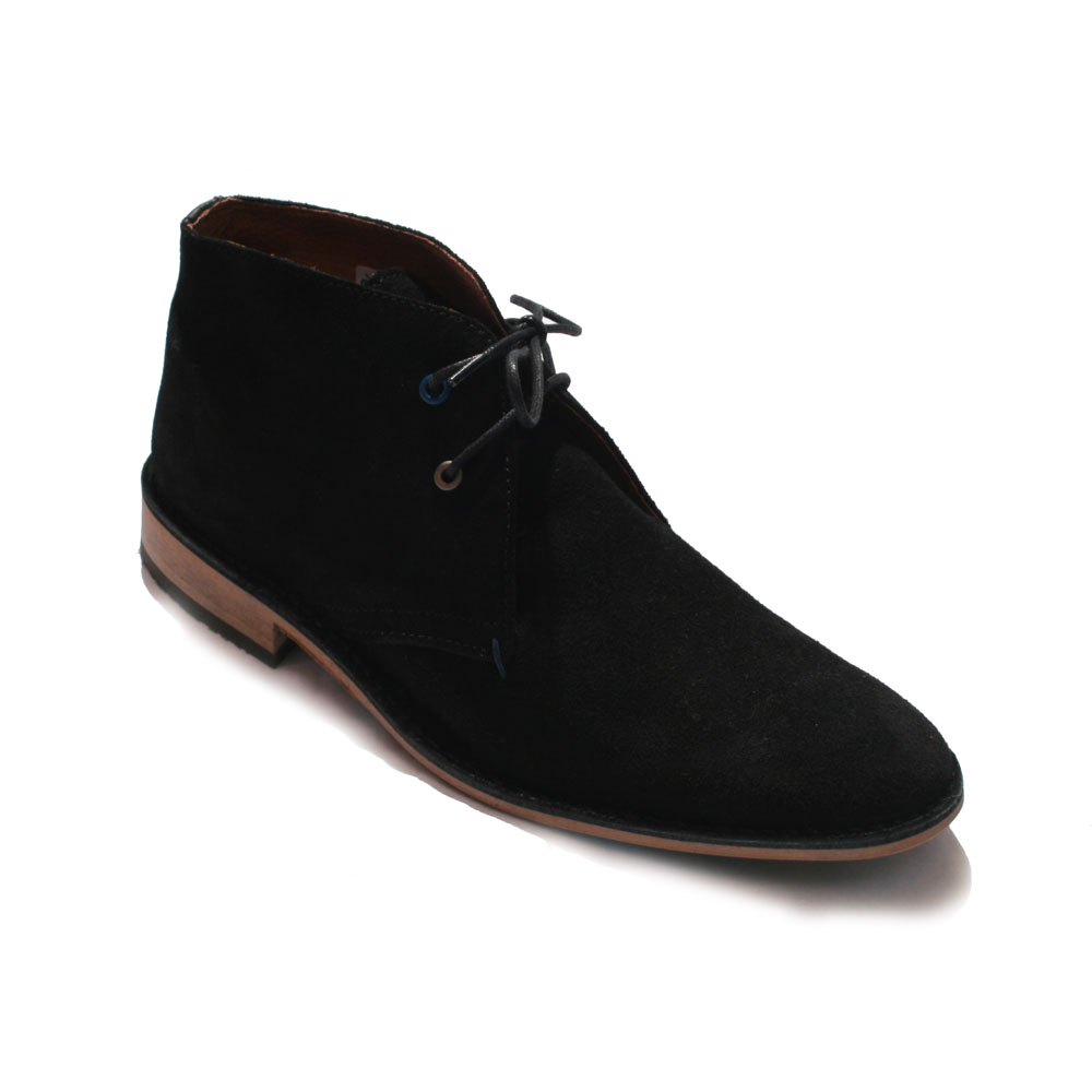 Base London Black Lease Suede Boot main image