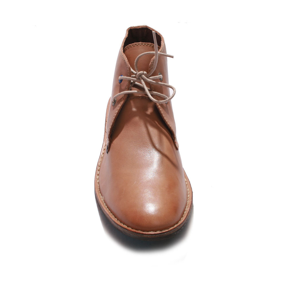 Base London Tan Lease Waxy Boots main image