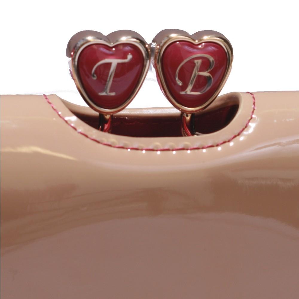 467f044095898 Ted Baker Womens Brown Ted Baker Ronnee Enamel Heart Bobble Matinee Purse -  Tan main image. Loading zoom