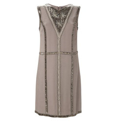 french connection light grey winter bex beads sleeveless dress