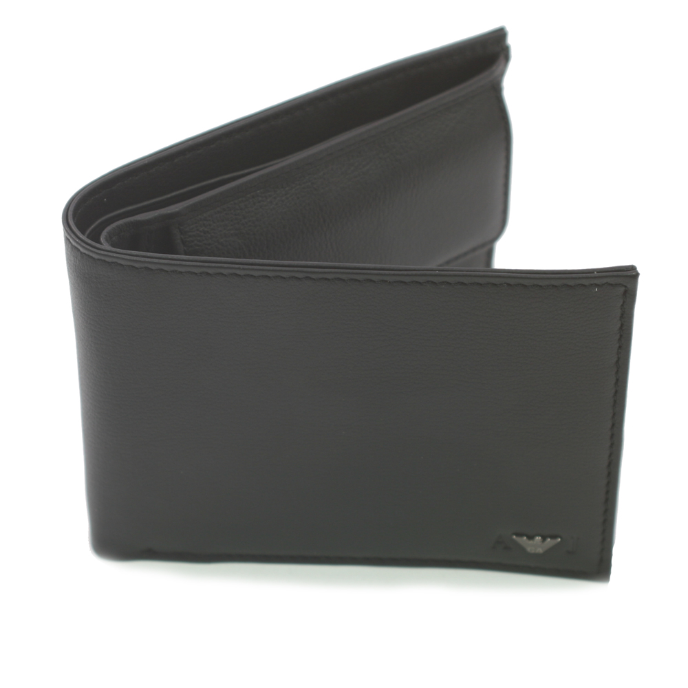 49c1513596df Armani Jeans Armani R6V57 Leather Black Wallet