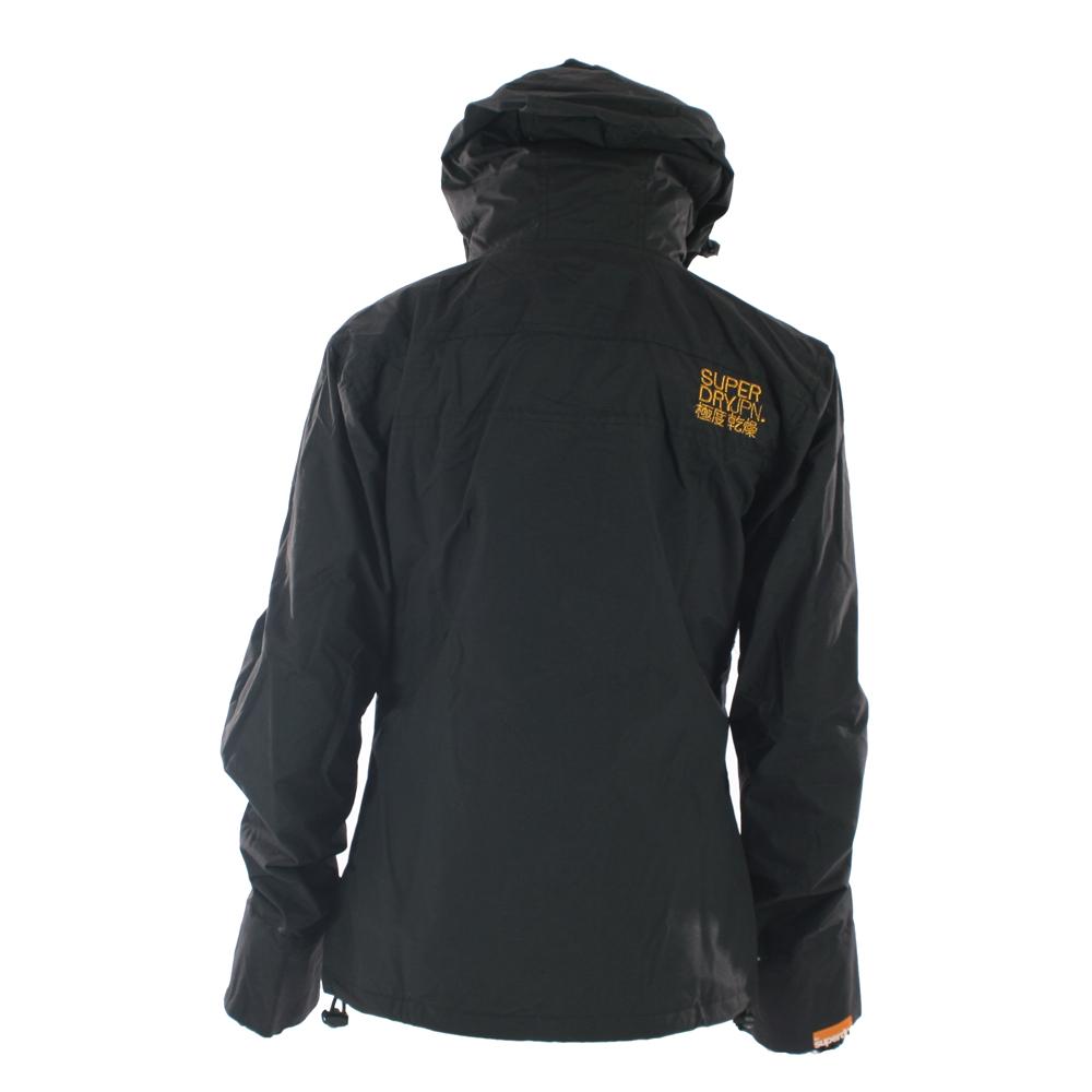 Black and gold superdry jacket
