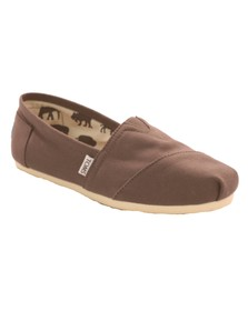 Toms Womens Brown Toms Classic Canvas - Ash