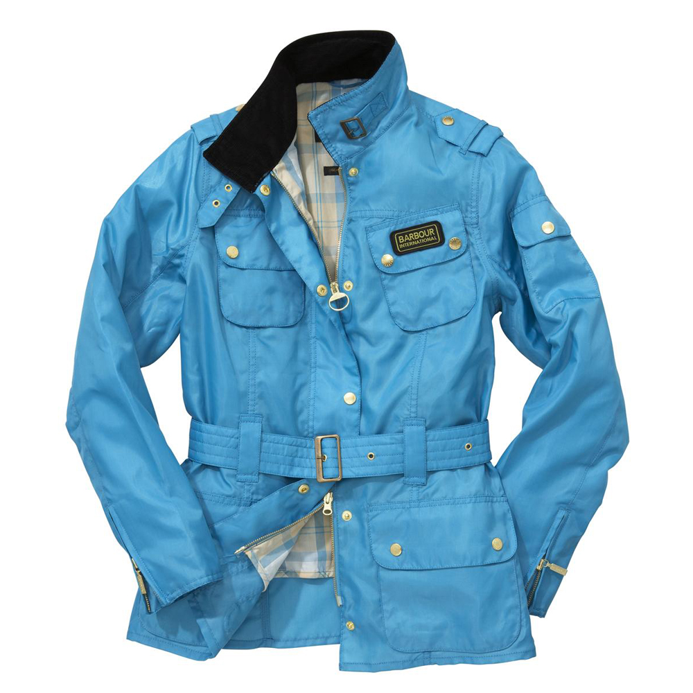 f2d212889f449 Barbour International Barbour Rainbow International Bright Brass Jacket -  Turquoise   Oxygen Clothing
