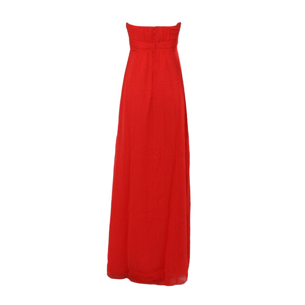 e2754cea4319 Ted Baker Nour Cross Front Strapless Maxi Dress - Dark Orange main image