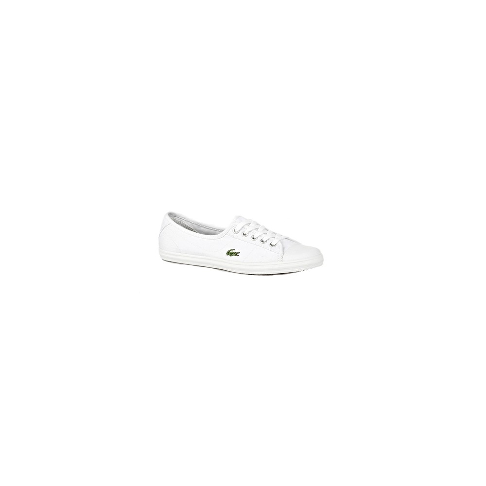 b5e37cf926f191 Lacoste Ziane SPW Canvas Trainer - White Green main image