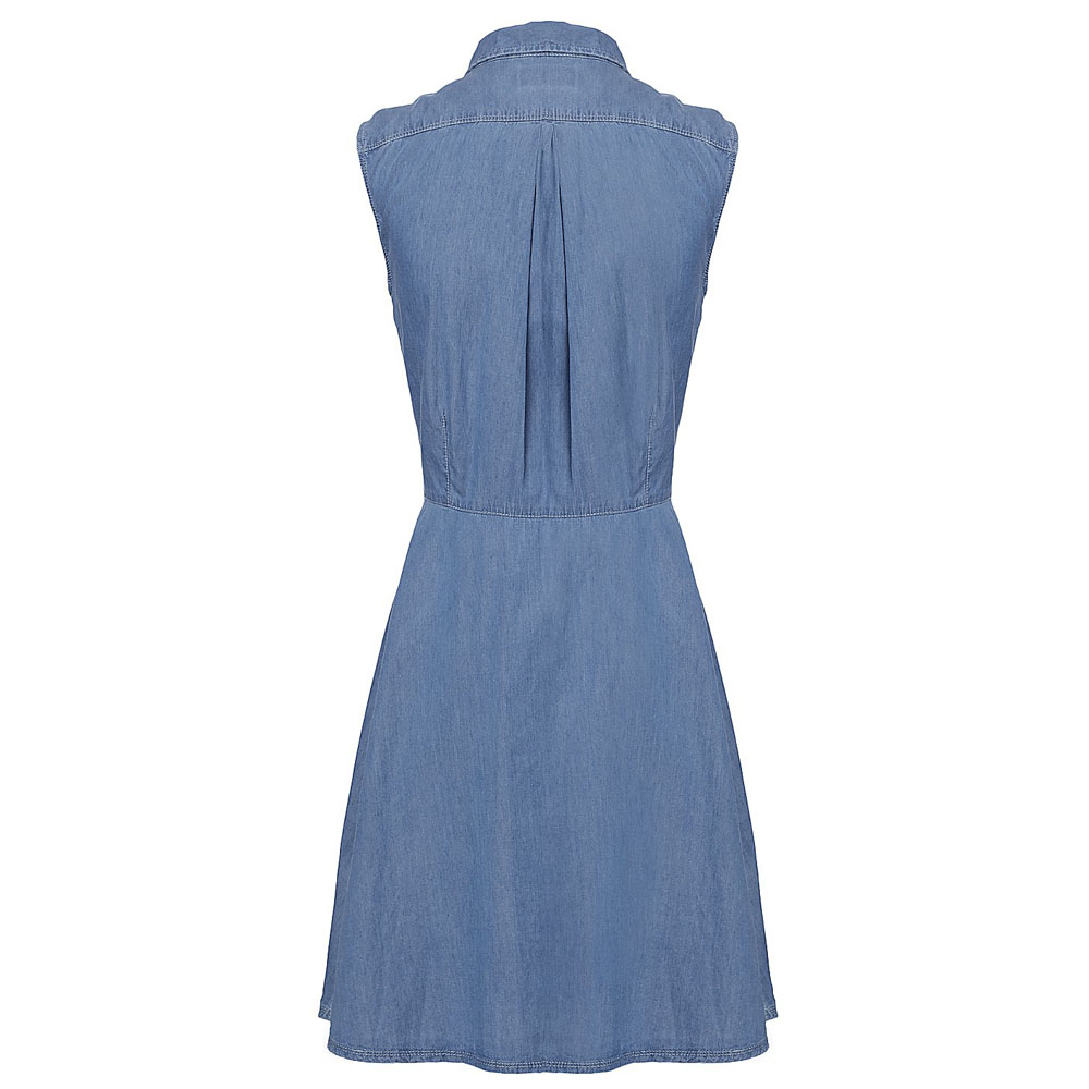 Firetrap Maria Denim Sleeveless Dress - Light Blue main image