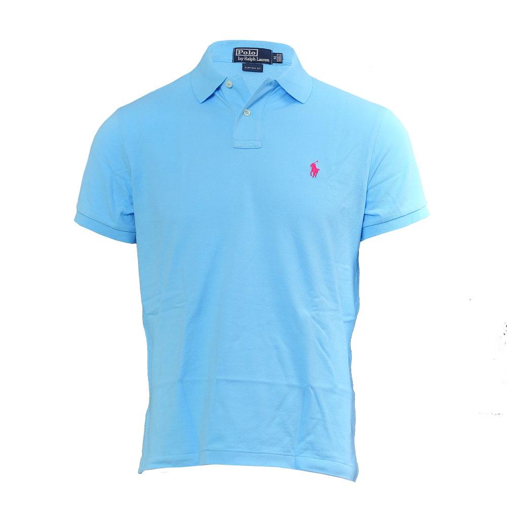 Ralph Lauren French Turquoise Custom Fit Polo Shirt Masdings