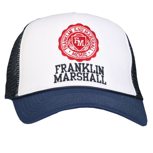 Franklin   Marshall Mens Blue Franklin Marshall Shield Logo Mesh Cap main  image 107fad49acba