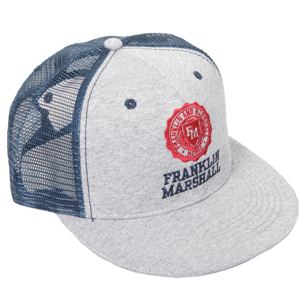 Franklin   Marshall Mens Grey Franklin Marshall Shield Logo Mesh Cap main  image. Loading zoom fdce5d1aeb15