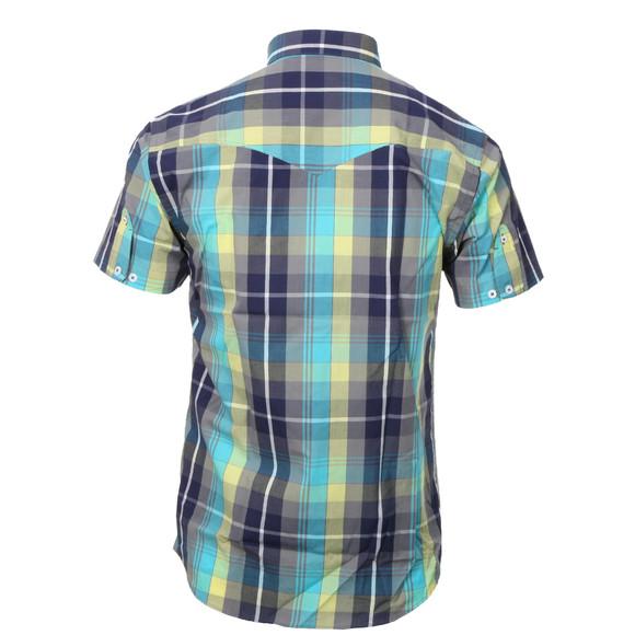 Luke Mens Blue Luke Bolt Rig Blue Cement SS Check Shirt main image