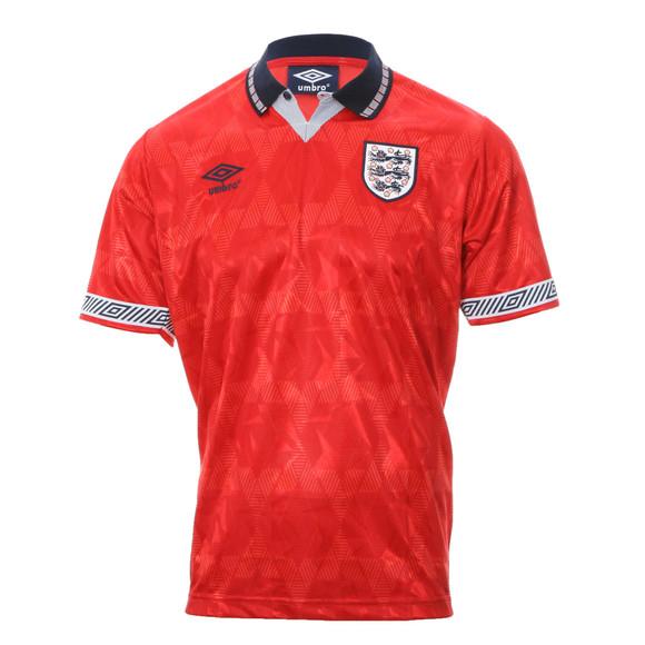 0a37028a038 Umbro Mens Red Umbro England Vermillion Dark Navy Italia 1990 Away Jersey  main image