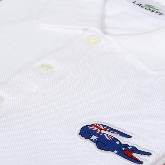 d10fb4dd2ec3b9 Lacoste Mens White Lacoste Australia STB PH9501 Flag Polo main image
