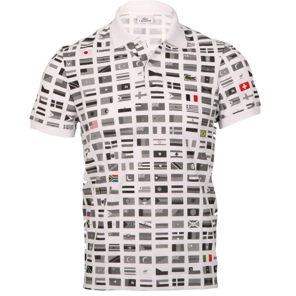 3a03b3a045da36 Lacoste International Flag Polo Shirt