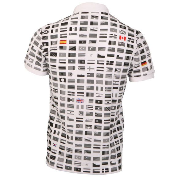 39038e494718aa Lacoste Mens Multicoloured Lacoste International Flag Polo Shirt main image