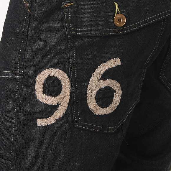 G-Star Mens Blue G-Star Elwood Heritage Raw Embro 96 Jeans main image