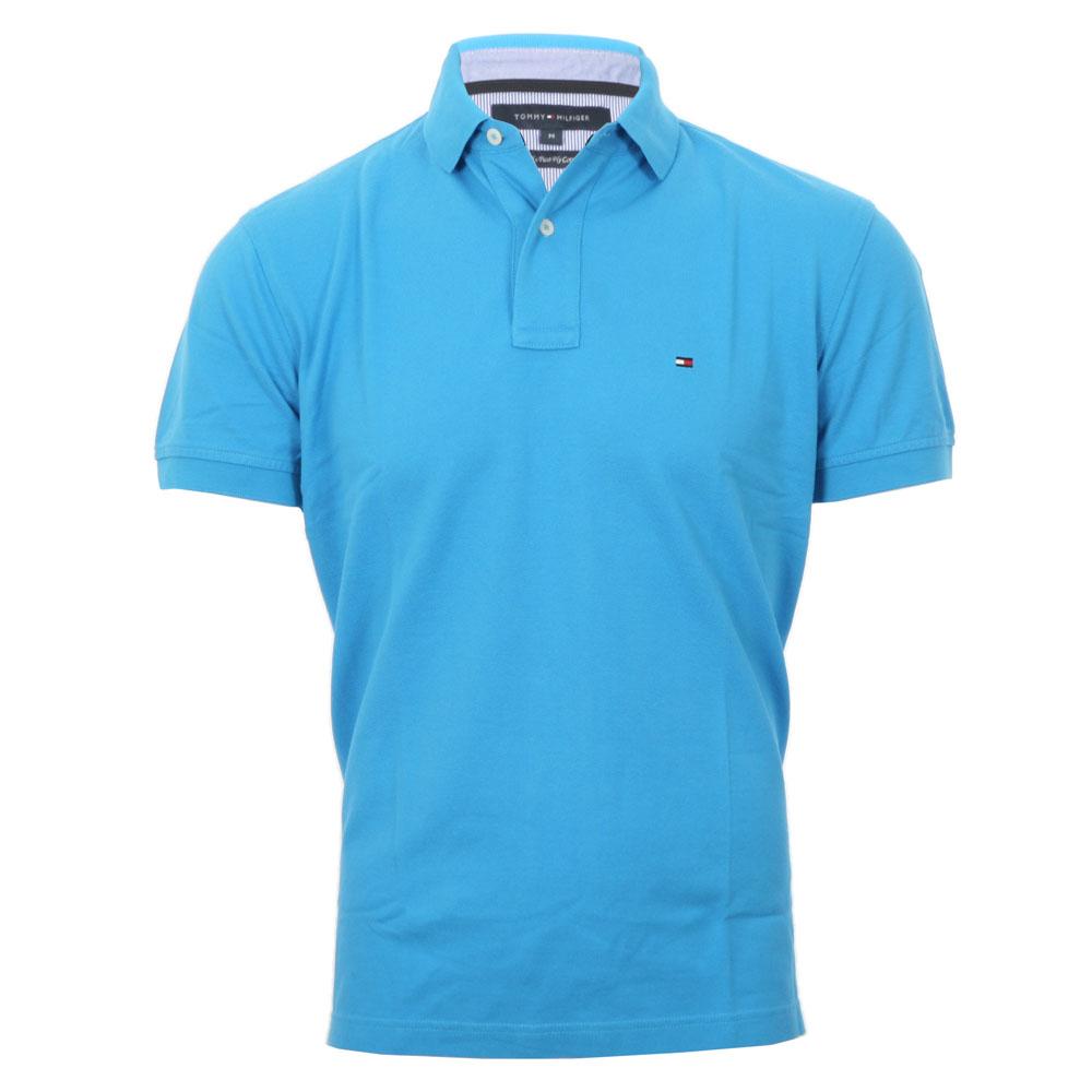 ce5c2b044 Tommy Hilfiger Malibu Blue New Tommy Knit Polo Shirt main image