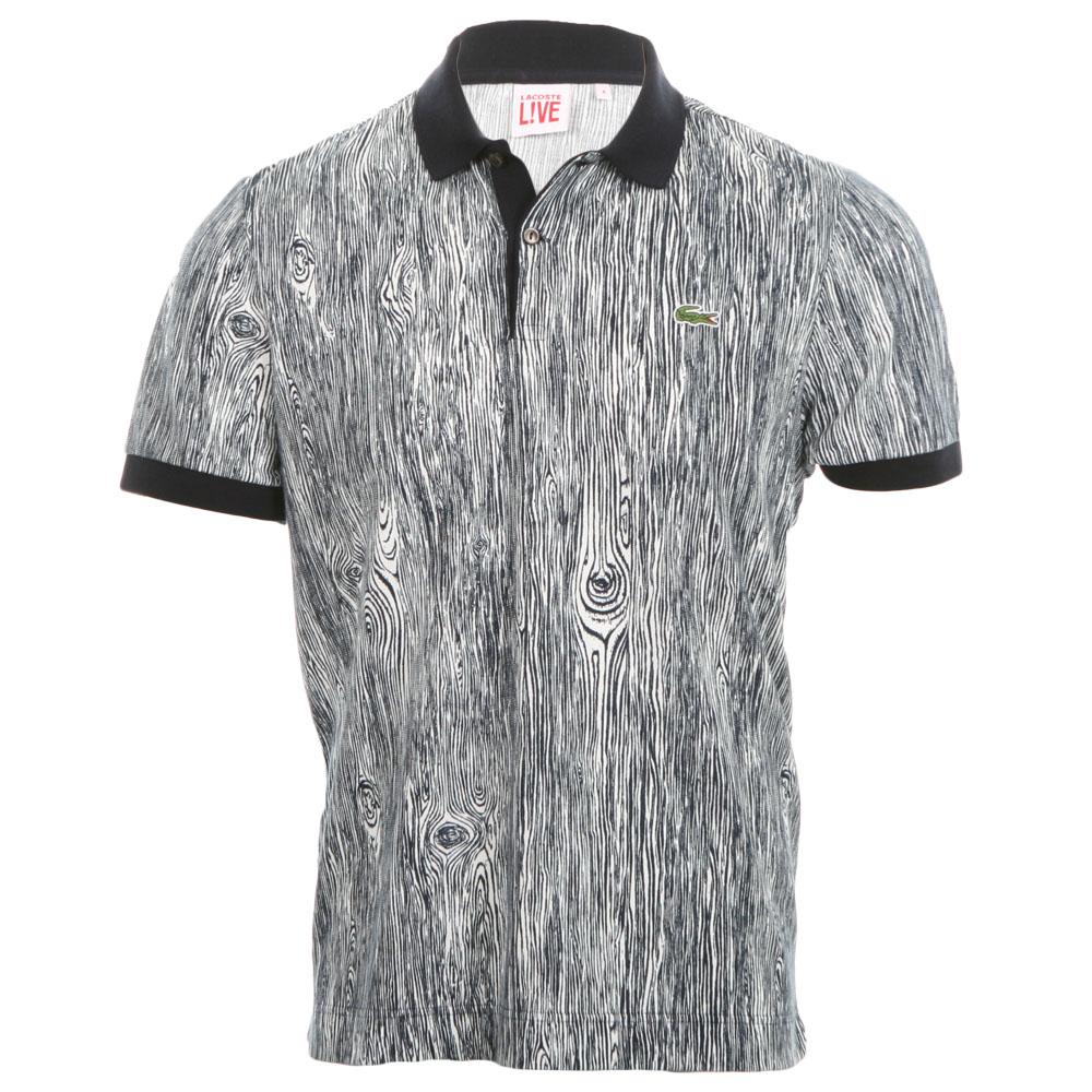 Lacoste Live Lacoste L Ve Wood Grain Effect Polo Shirt