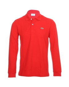 Lacoste Mens Red Lacoste L1312 Red Long Sleeve Polo