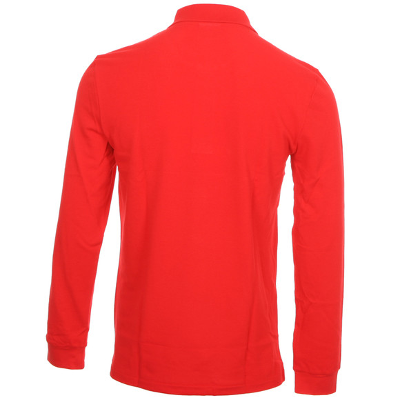 Lacoste Mens Red Lacoste L1312 Red Long Sleeve Polo main image