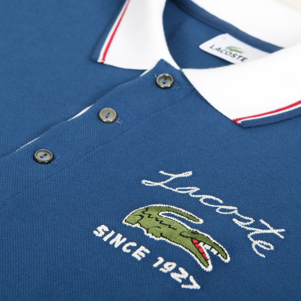 Lacoste Tenebres Big Croc Logo Polo Oxygen Clothing