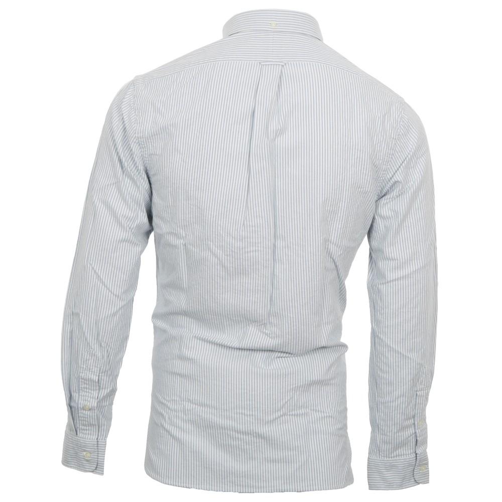 80e4ae628 Polo Ralph Lauren Mens Blue Ralph Lauren Slim Fit Oxford Stripe Shirt LS